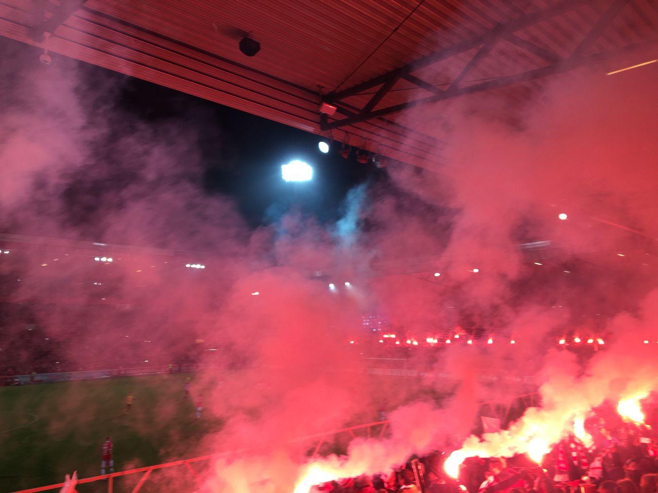 FCU Geburtstagsfete Stadion an der alten Försterei! Eisern Union! 1. FC Union Berlin  Pyro