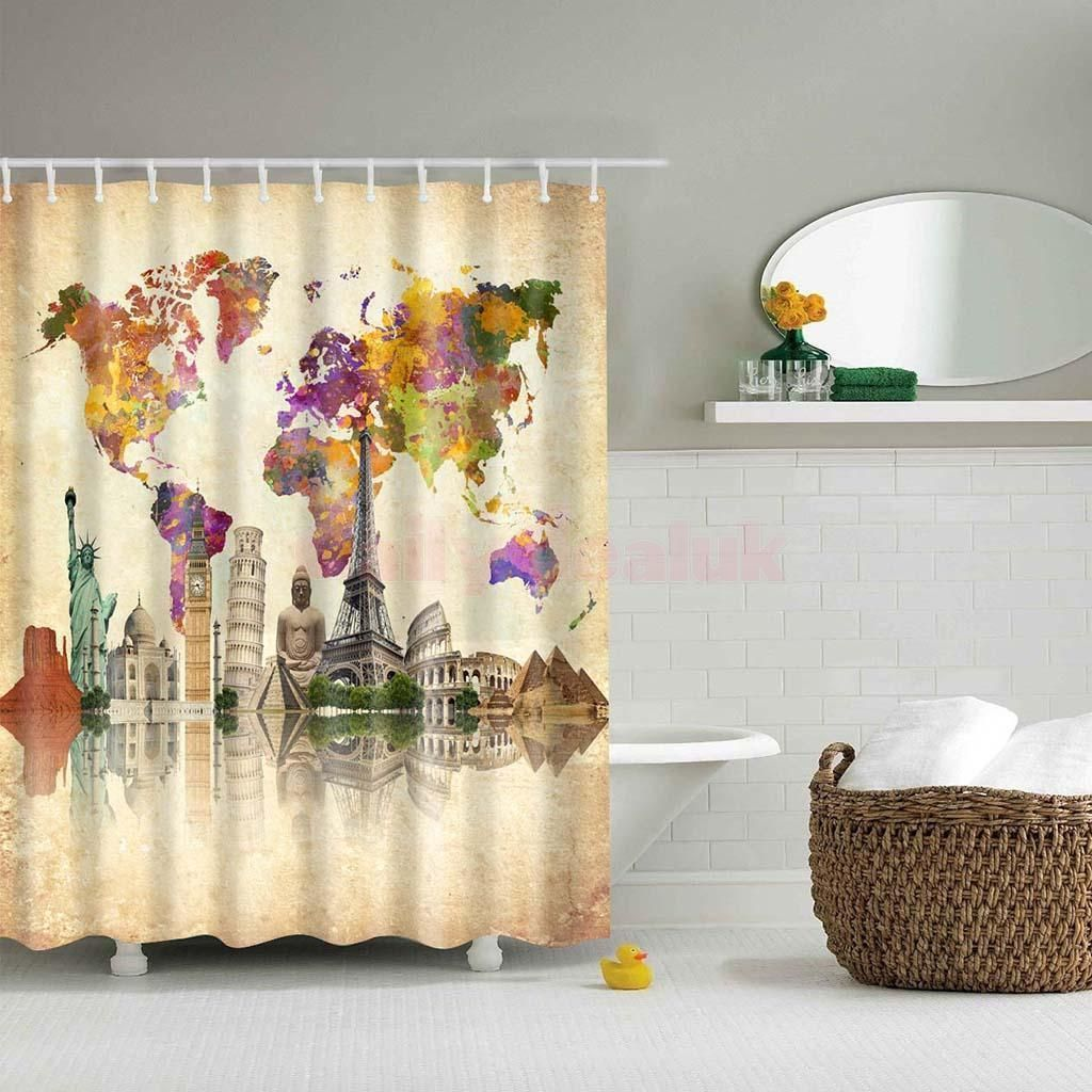 Details about various waterproof fabric bathroom shower sheer details about various waterproof fabric bathroom shower sheer liner curtain panel w 12 hook gumiabroncs Gallery