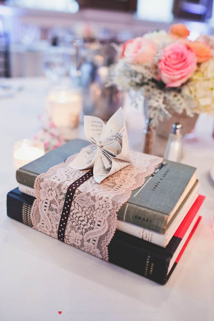 How to tuesday the book themed shower and wedding quirk books perfect centerpieces for a vintage book theme wedding the more eclectic blues creams books lace junglespirit Choice Image