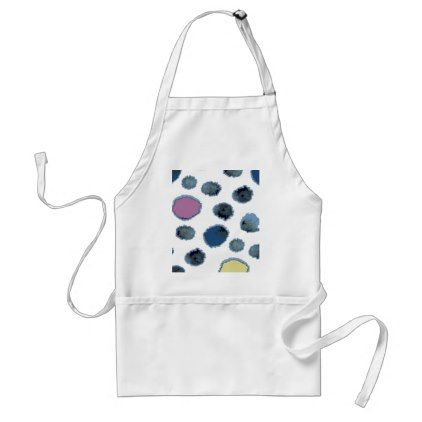 Watercolor circles adult apron - kitchen gifts diy ideas decor special unique individual customized