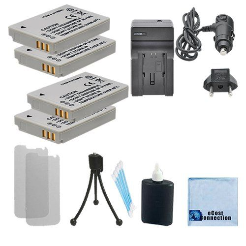 4 Nb5l Rechargeable Battery Carhome Charger For Canon Sd990 Is Digital Elph Sx200 Is Sx210 Is Sx230 Hs Ixy D Powershot Rechargeable Batteries Camera Batteries