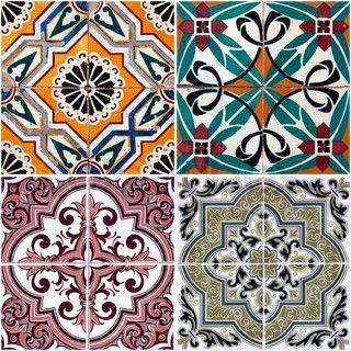 Colorful Vintage Ceramic Tiles Wall Decoration