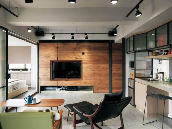 工業風輕貴族 Tv Wall Tv Feature Wall Loft Interiors House