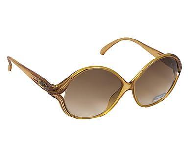 Occhiali da sole Christian Dior 2126 marrone e giallo - 15x6 cm