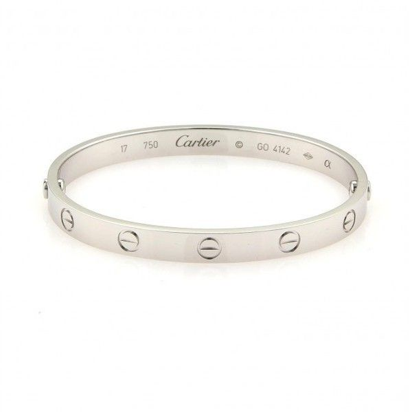 Pre Owned Cartier Love Bracelet White Gold Size 17 18 180 Aed Liked