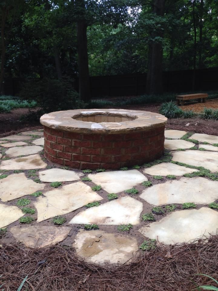 Firepit Has Drainage For Rainwater