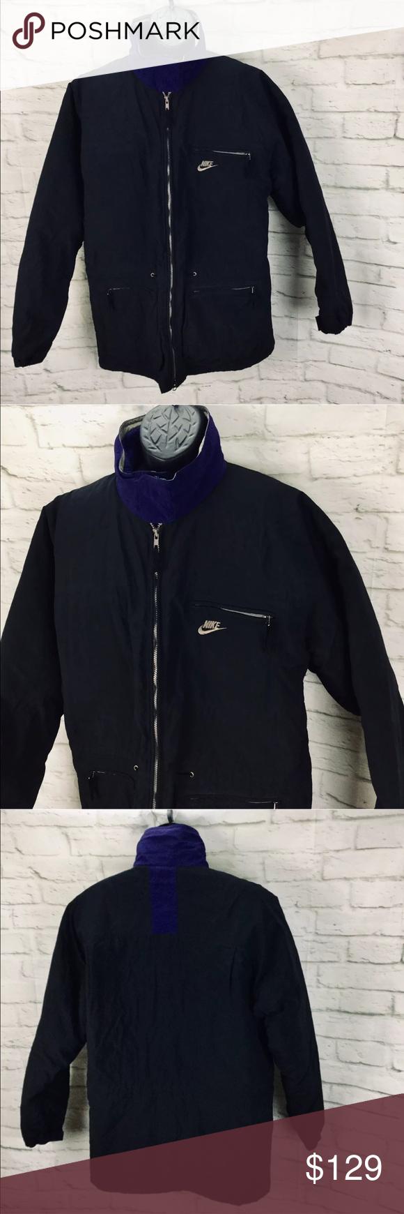 a4a6aeae5e15a NIKE ACG Fleece Lined Full Zip Jacket Coat Mens L Vintage NIKE ACG ...