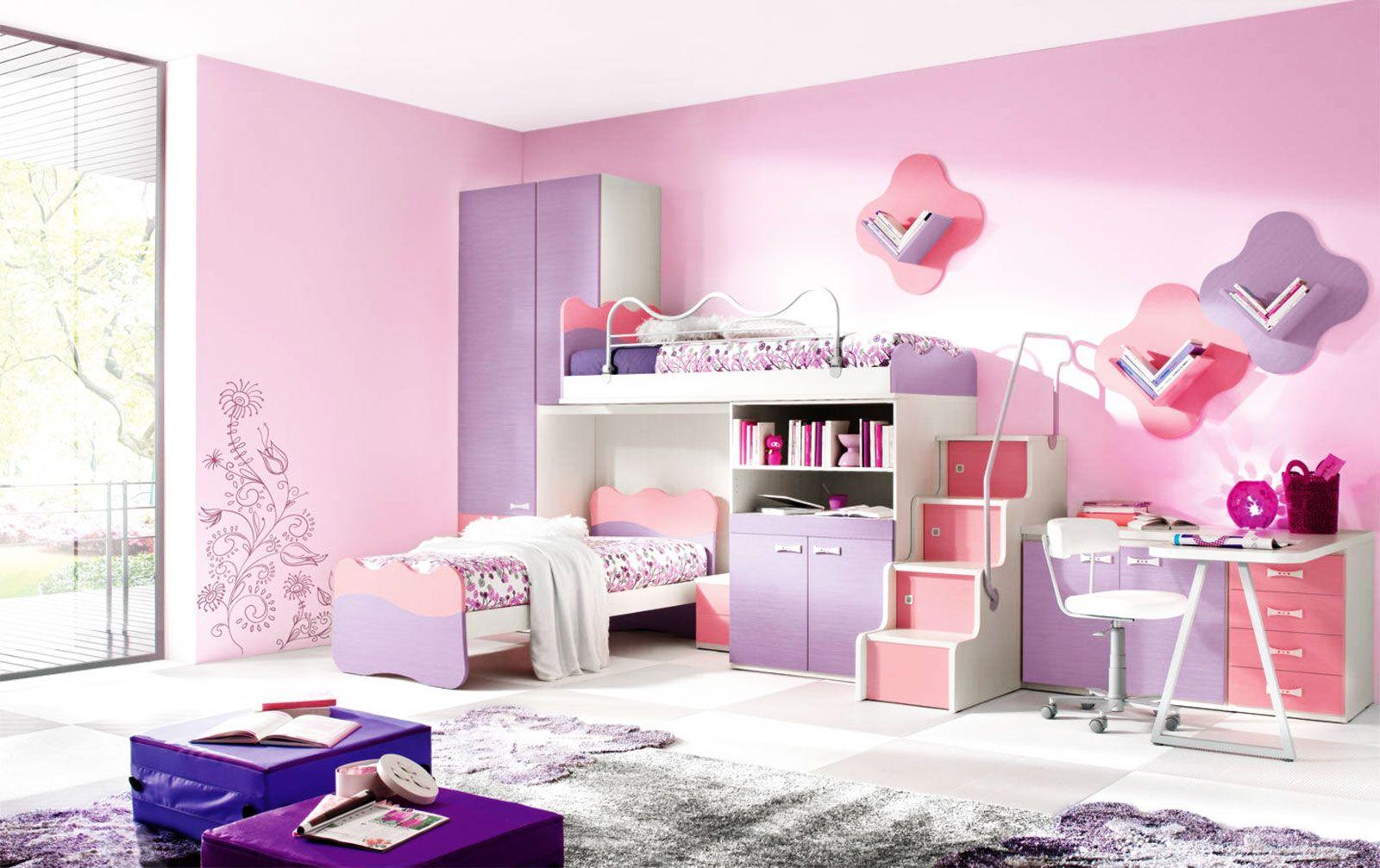 Elegant Girls Kids Bedroom Furniture Sets Designer