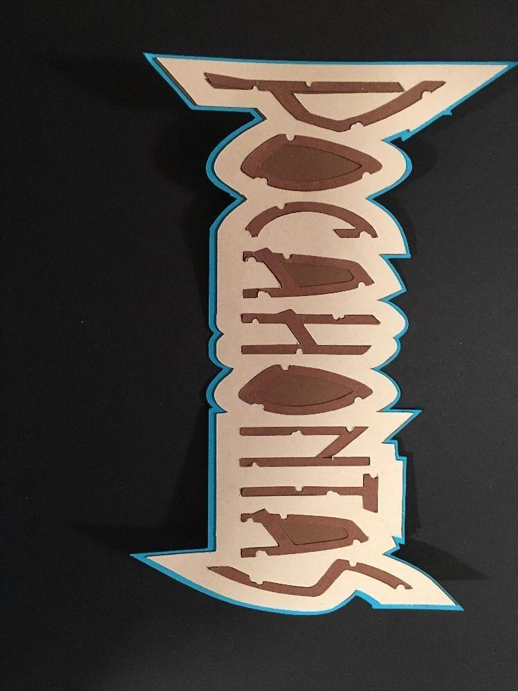 Disney Inspired Pocahontas Name Title Die Cut Handmade Card Stock