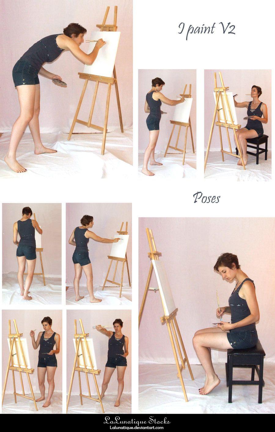 STOCK - I paint V2 by LaLunatique on DeviantArt | character shape ...