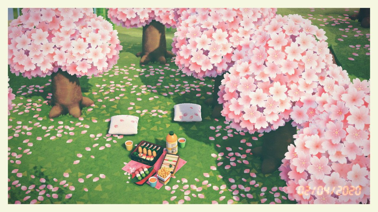 Dani On Twitter Cherry Blossom Petals Animal Crossing Cherry Blossom Season