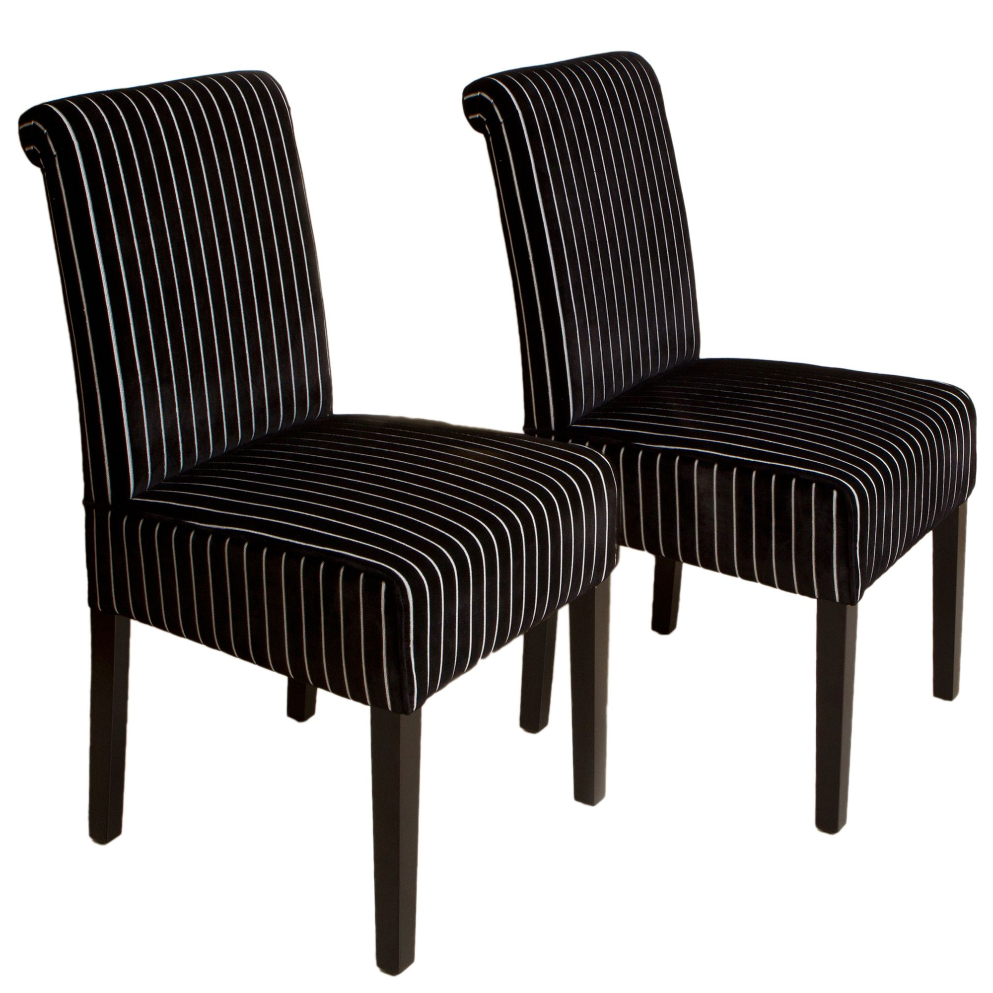 Home Loft Concept Rolled Back Dining Chair In Black And White Set Of 2