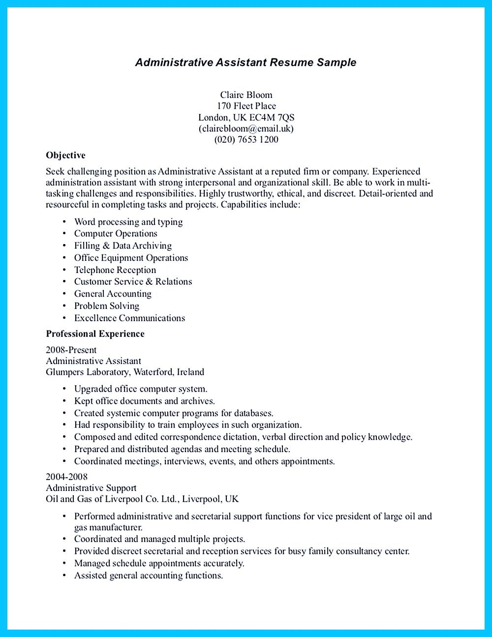 Cover Letter For Job Application For Administrative Assistant