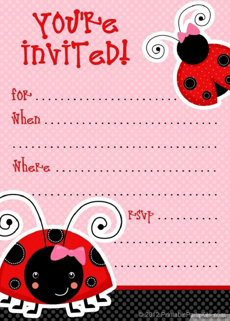 Unique Ladybug Baby Shower Invitations