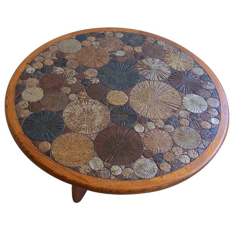 Tue Poulsen ceramic coffee table Denmark 1963 Denmark Coffee and