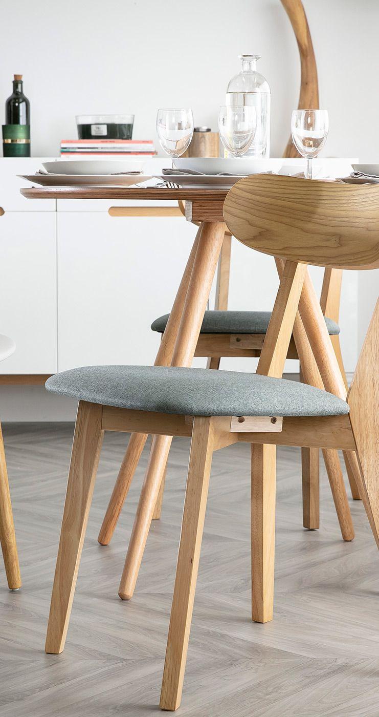 Chaise Design Vintage Grise Et Pieds Bois Lot De 2 Marik Miliboo En 2020 Chaise Design Vintage Design Design