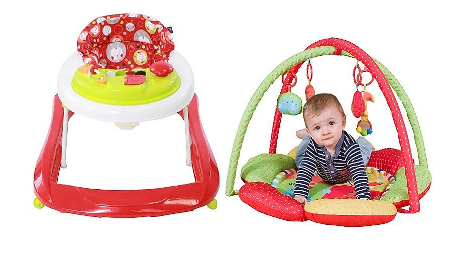 c7657438e Red Kite Baby Go Round Jive Baby Walker   Safari Play Gym