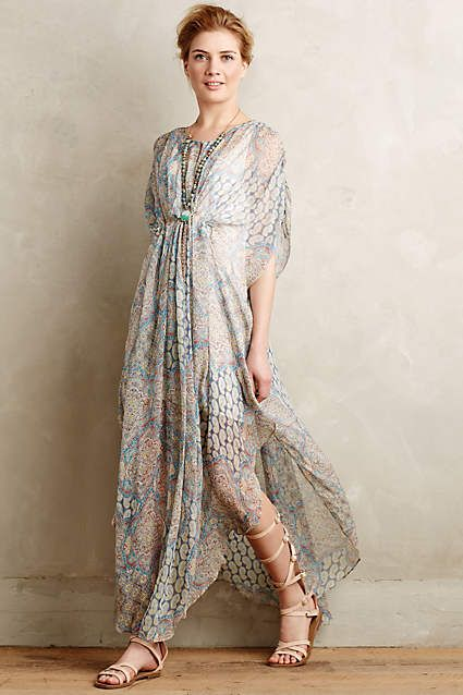 Mandara Silk Caftan - anthropologie.com #anthrofave