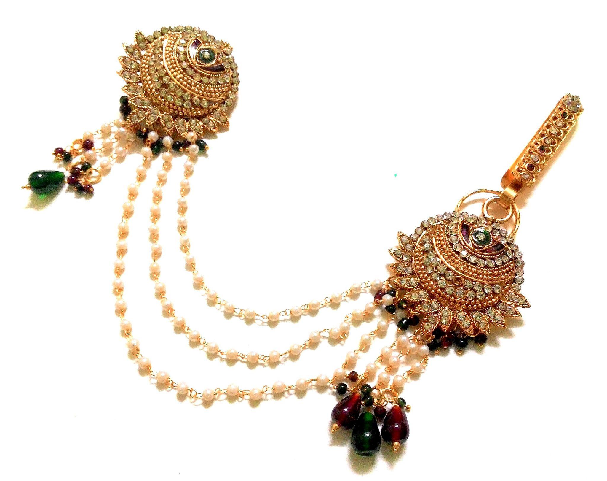 37b7377ac Kundan Saree Pin Brooch Juda Waist Belly Hip Chain Belt Kamarband Keychain Ethnic  Wedding Jewelry