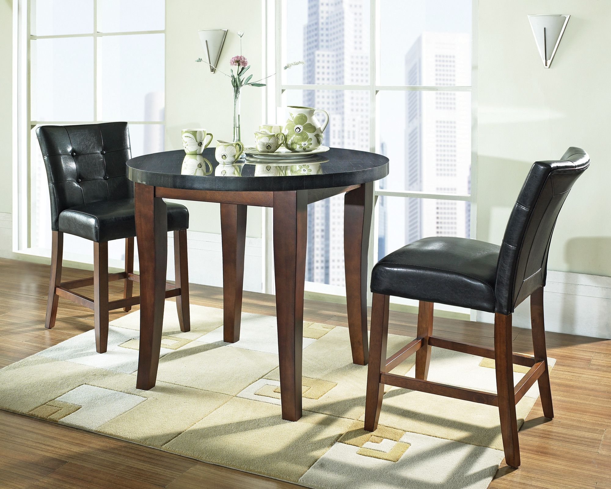 Gertrude Solid Wood Dining Table Counter Height Dining Table