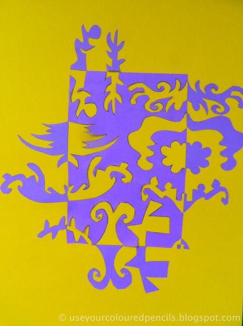 notan in complementary colors positiv negativ bild pinterest