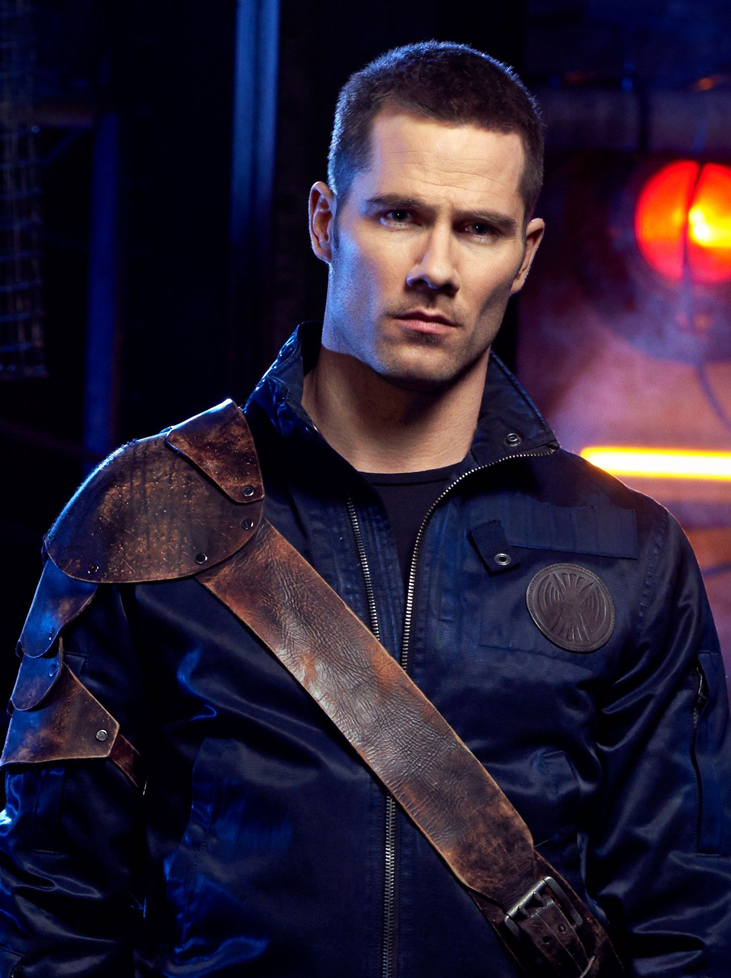 Actor Luke Macfarlane looking bold