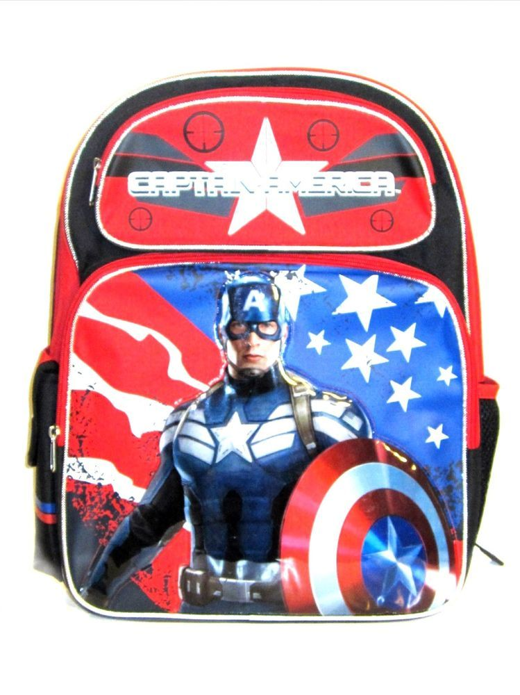 Captain America 2 Backpack 16 Book Bag Marvel Heroes Licensed Winter Solr Captainamerica