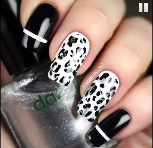 Blanco con negro