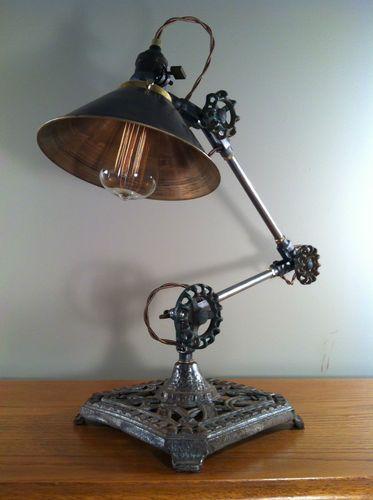 Vintage Industrial Desk Lamp Machine Age Task Light Cast