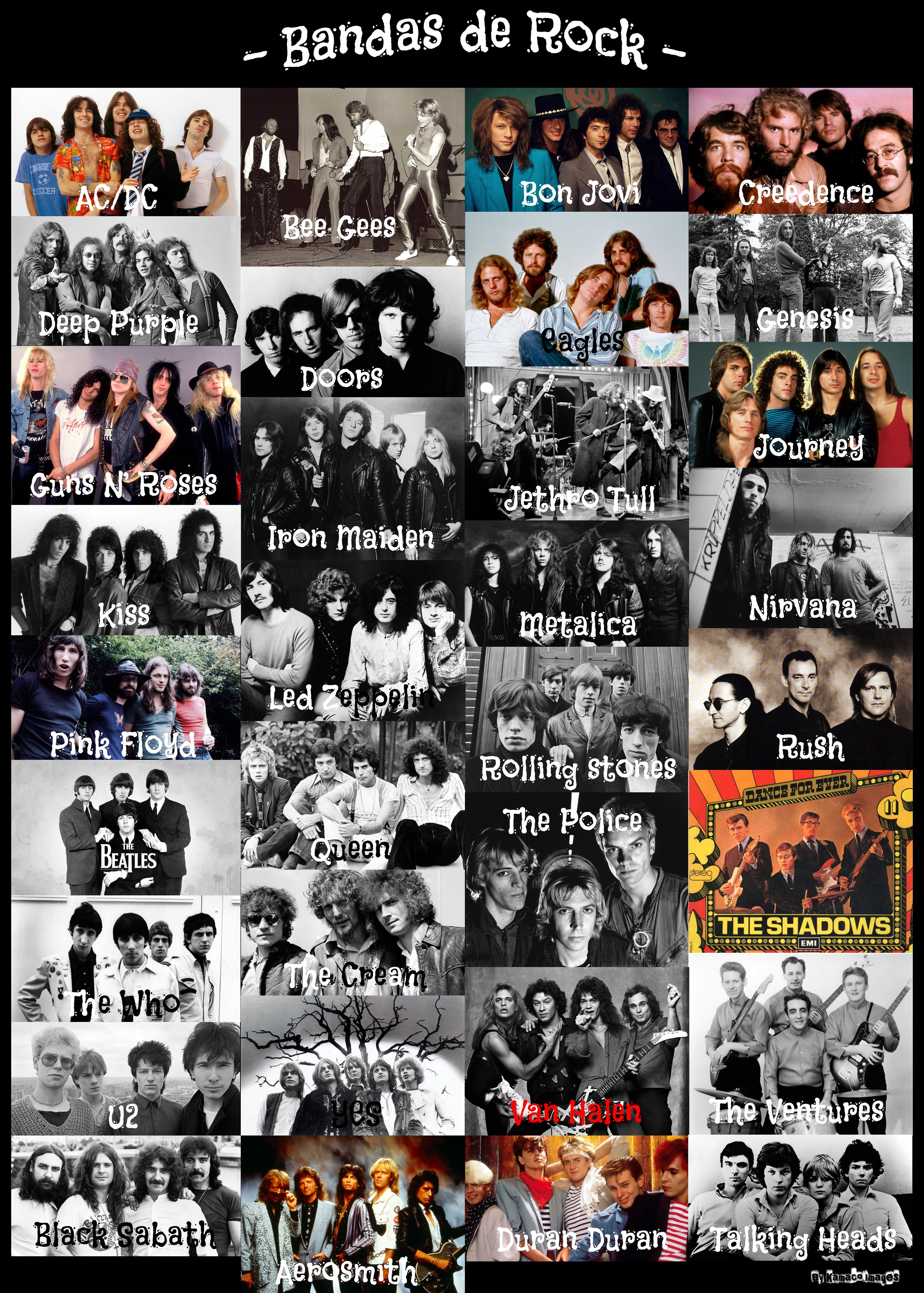 Bandas De Rock Illustration Photoshop People Men Band Poster