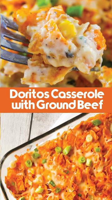 Doritos Casserole With Ground Beef Extra Ordinary Food Easyfoodrecipes Simplerecipes Healt Dinner With Ground Beef Dorito Casserole Beef Casserole Recipes