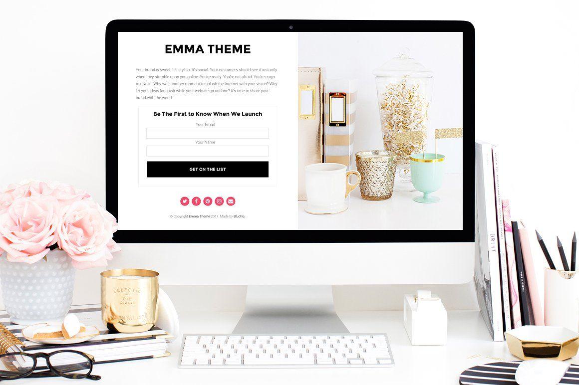 Emma Landing Page Theme - Website splash page templates