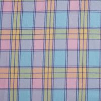 Multi-Pastel Plaid Yarn-Dyed Cotton Twill
