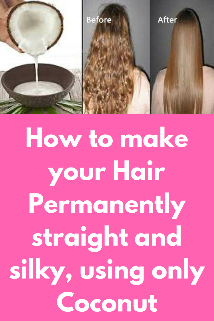 Just Do This And All Your Curly Hair Will Become Straight Forever Straight Hair Tips Curly To Straight Hair Curly Hair Styles Naturally