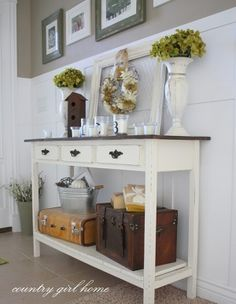 how to decorate a hallway table Google Search Deco Pinterest