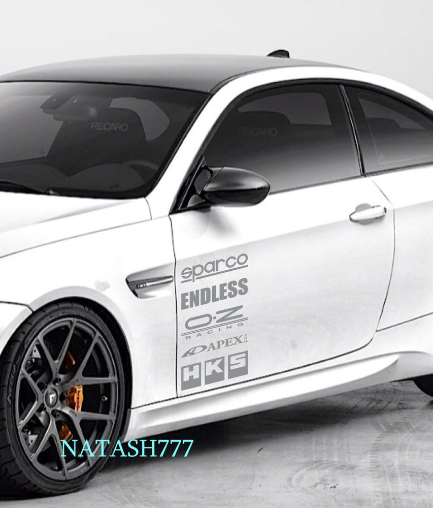 Racing Sponsors Ford Sport Car Sticker Emblem Logo Decal Silver Pair Natash777 Bmw M3 Bmw Mazda