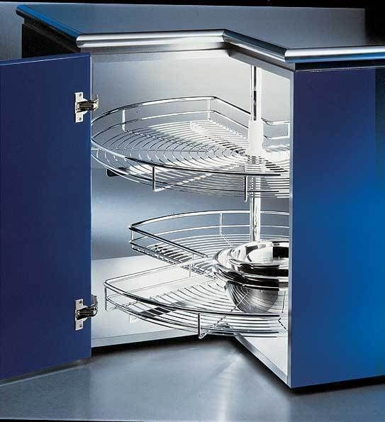 Rotary 2tier 3 4 800 Corner Carousel Basket Lazy Susan 800mm Corner Unit Kitchen Corner Units Hafele