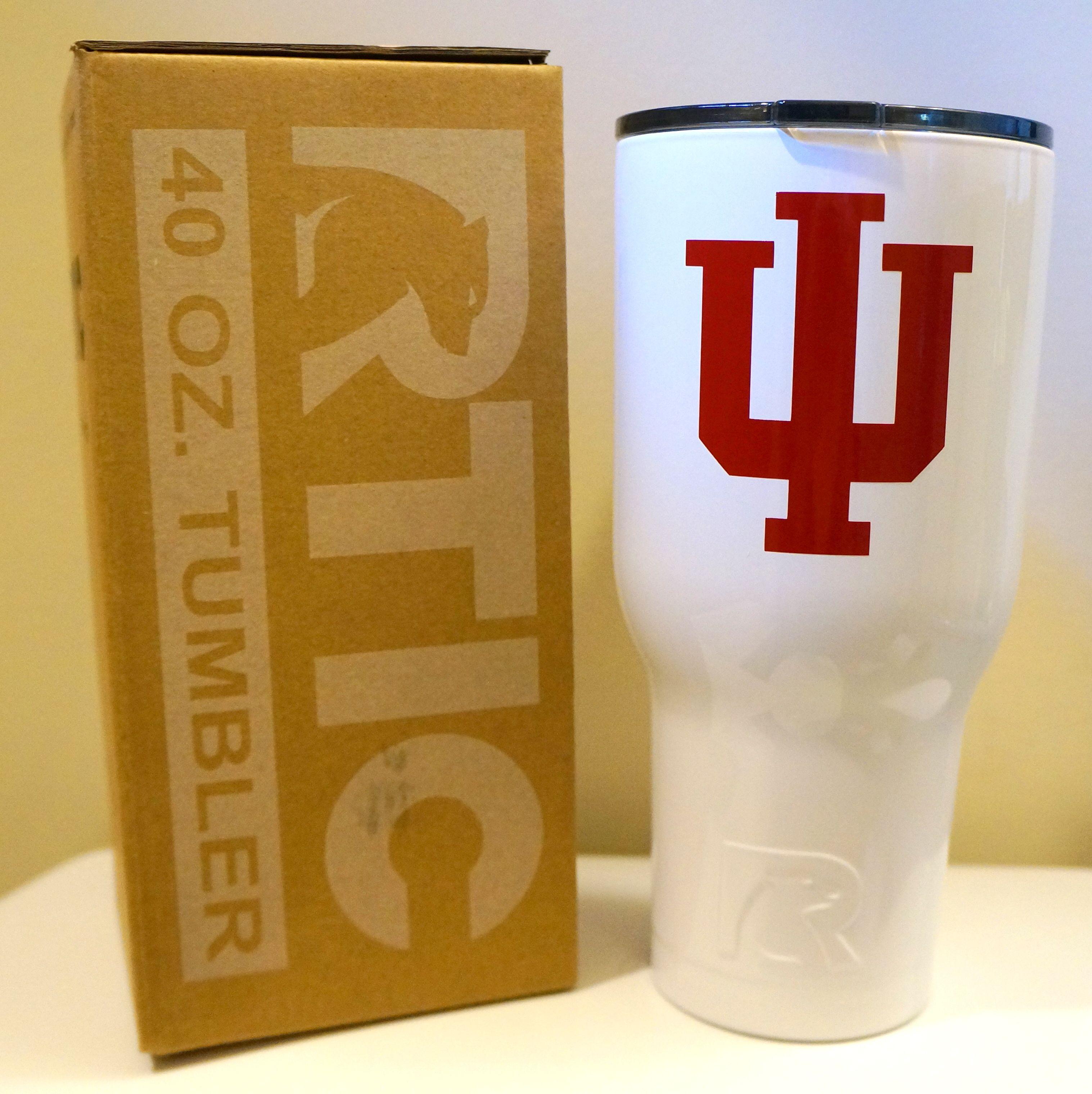 Indiana University Iu Inspired Rtic Tumbler 20 Oz 30 Oz 40 Oz Tumbler Rtic Tumblers Clear Epoxy