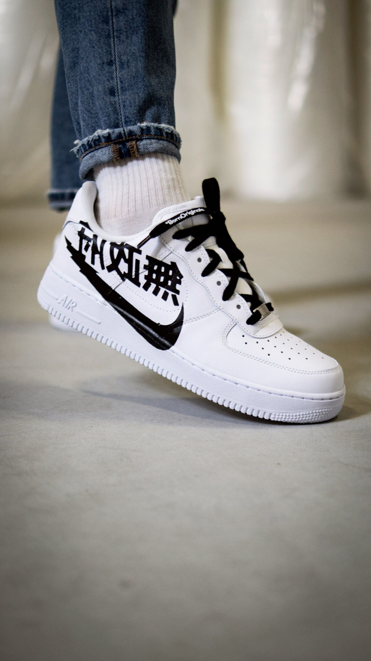 AF1 'Japanese Swoosh' | shoes in 2019 | Sneakers, Nike