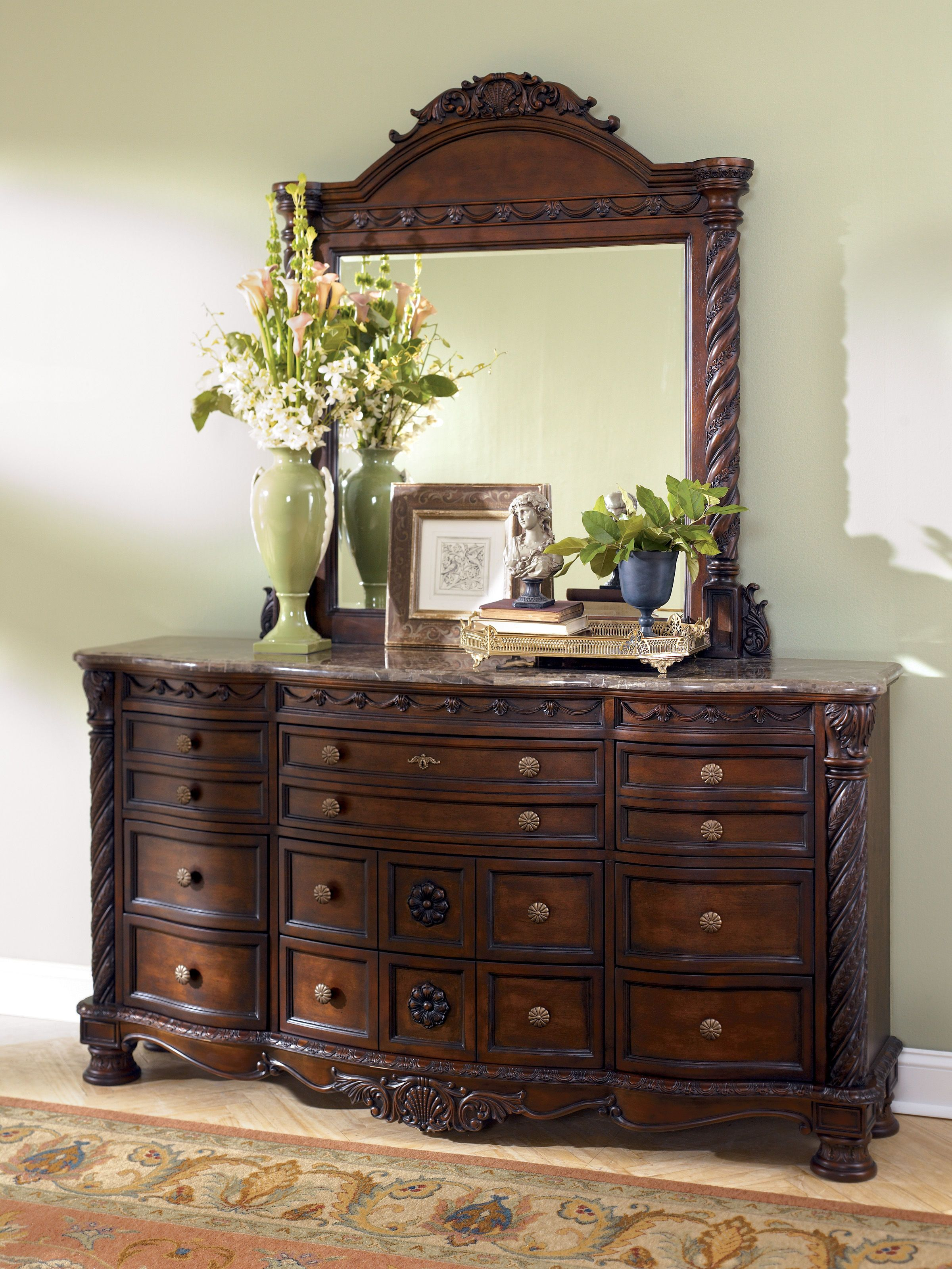 Ashley Furniture North Shore Dresser and Mirror