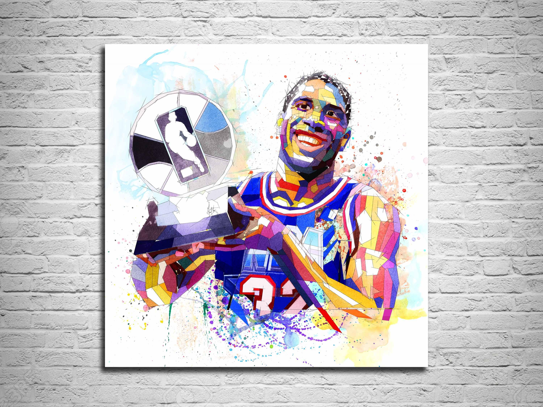 Magic Johnson Canvas Print Lakers Basketball Art Sports Fan Poster Basketball Gift Boys Room Decor Man Cave Wall Art Modern Art 000 Canvas Prints Man Cave Wall Art Art