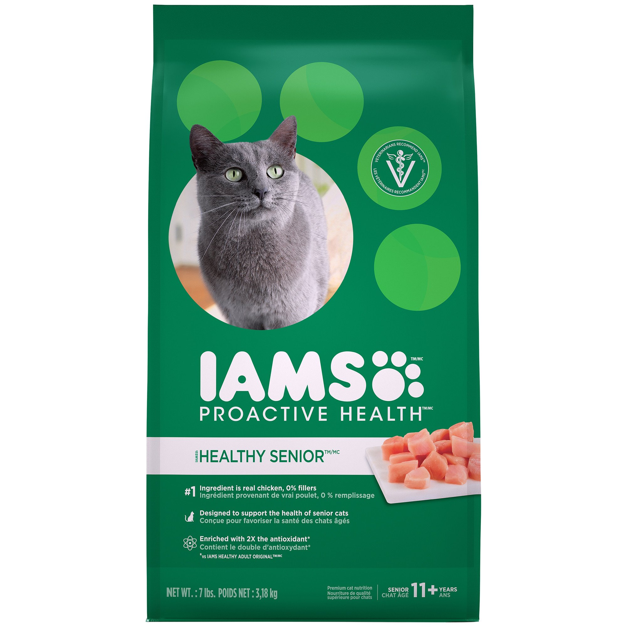 Iams Proactive Health Healthy Senior Dry Cat Food 7 Lbs Dry