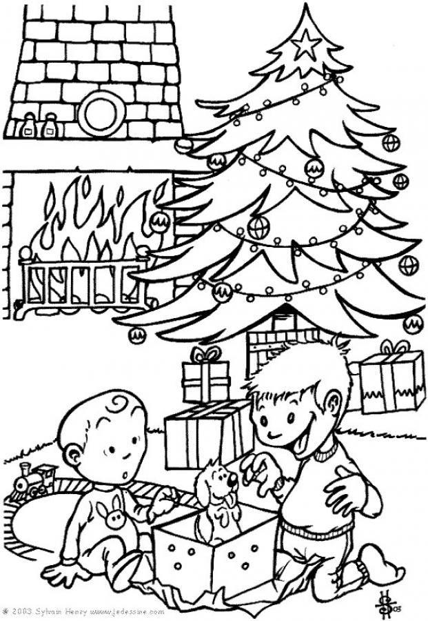 Dibujos para colorear | Regalos de Navidad II | Dibujos para ...