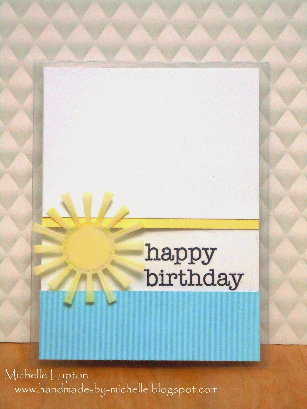 Fusion 16 Happy birthday michelle, Handmade, Window cards