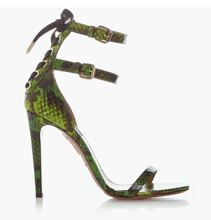 71.25$  Watch now - http://ali8pq.worldwells.pw/go.php?t=32397328146 - Valentine Lovely Summer Style High Quality Pumps Open Toe Snake High Heels Flowers 11Cm Party Shoes Ankle Strap Woman Sandals 71.25$