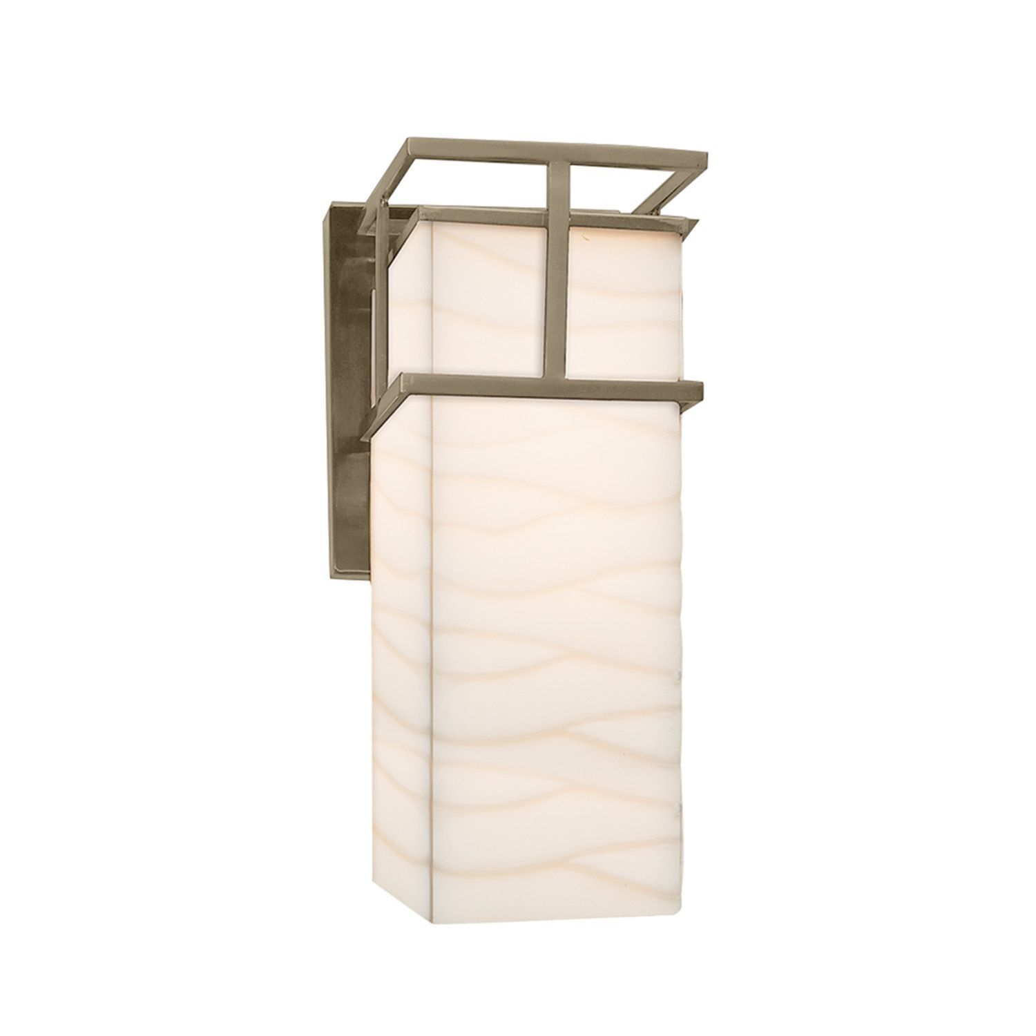 Justice design group porcelina structure nickel outdoor large wall