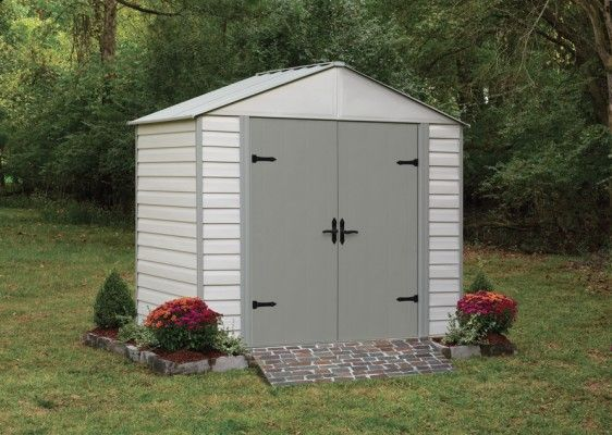 Arrow Arrow Vinyl Coated Steel Viking Series 8 X 5 Steel Sheds Steel Storage Sheds Metal Storage Sheds