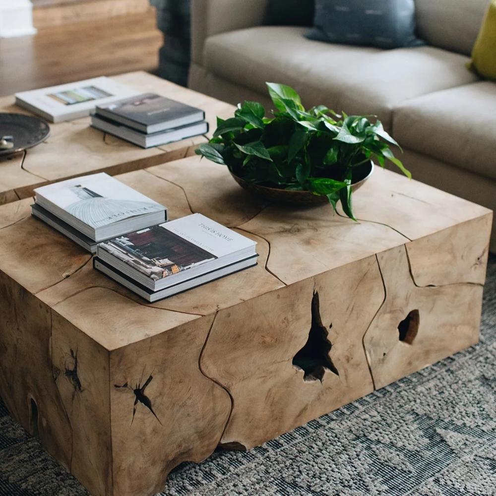 Teak Wood Coffee Table In 2020 Natural Wood Coffee Table