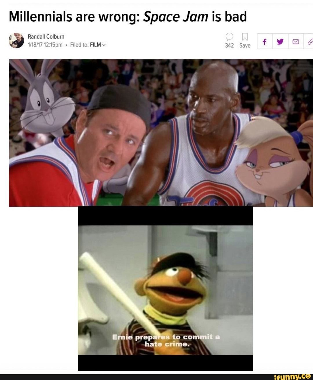 Millennials Are Wrong Space Jam Is Bad Ifunny Best Funny Photos Funny Photos Daily Funny