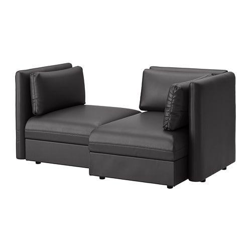 Vallentuna 2 Seat Modular Sofa With Storage Murum Black Ikea Fabric Sofa Sofa Bed With Storage Modular Sofa Bed